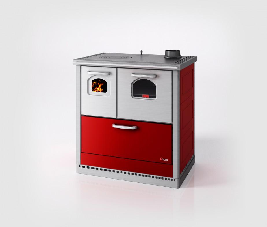 Fercas cucina cadel economica a legna modello smart - Cucina a legna economica ...