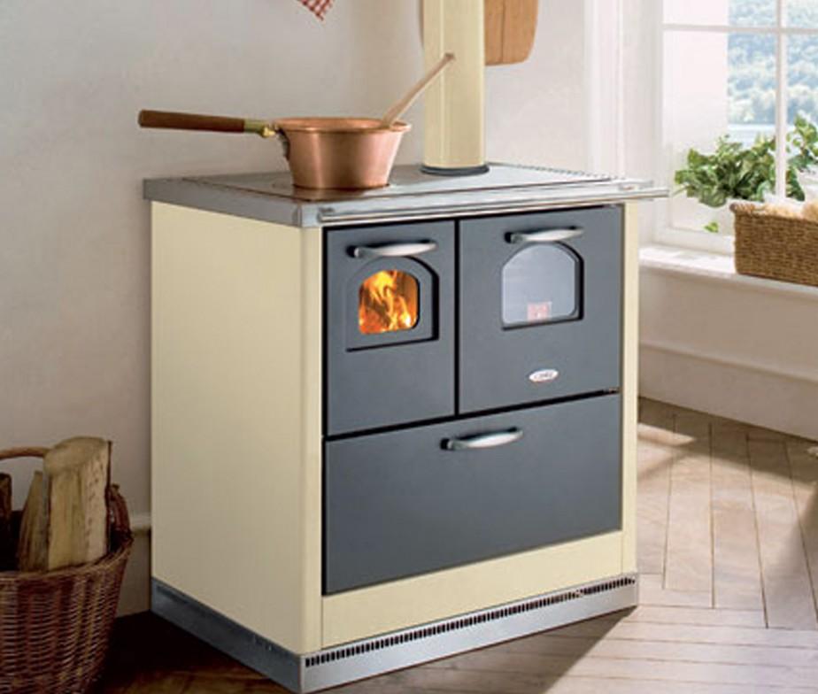 Fercas cucina cadel economica a legna modello smart - Forno a legna cucina moderna ...