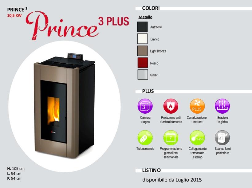 Pellet stove mod. Prince Plus - Cadel